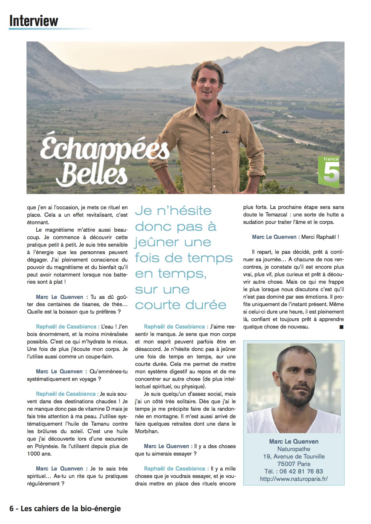 Mon interview bien tre par marc le quenven naturopathe - Raphael de casabianca en couple ...