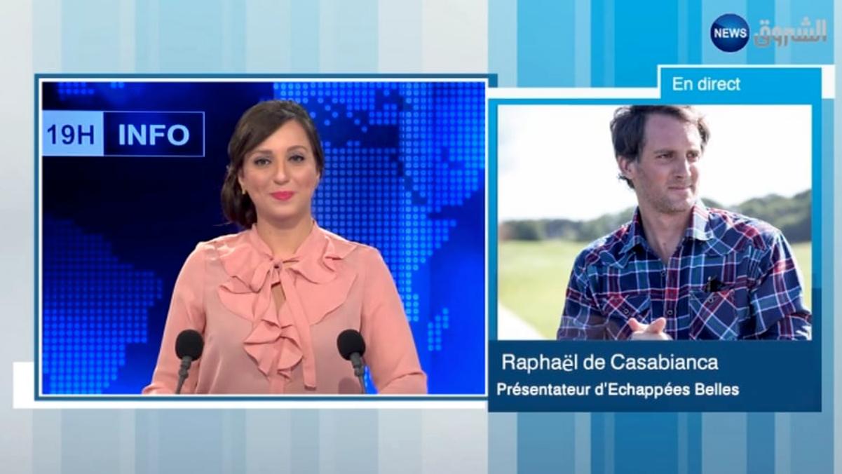 Interview en direct au journal alg rien d 39 echourouk news - Raphael de casabianca en couple ...