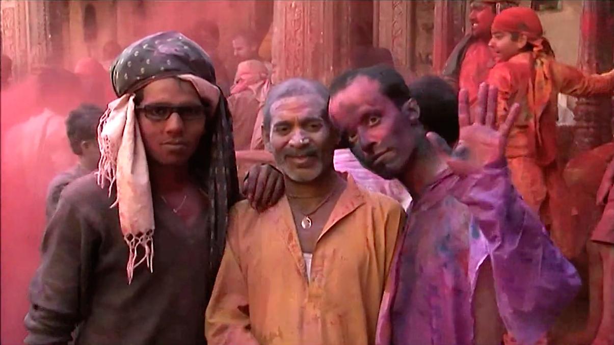 Holi festival à vrindavan
